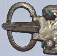 Большая готская пряжка с изображением льва, 6 век