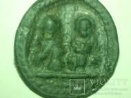 Нательная иконка: Великомученик Никита И Святитель Никола Чудотворец. 14-15 век