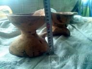 Ритуальная биноклеподобная посудина. Трипольская культура.