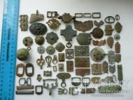 Разнообразные поясные накладки, Металлопластика