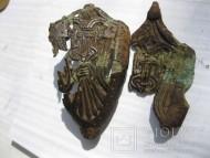 Наконечник ножен с изображением Тризуба-Сокола «Рарог»