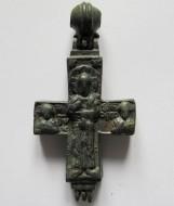 Рельефный энколпион Спас со свитком - св. Николай.12-13 век