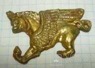 Позолоченное украшение накладка - Грифон (Ламассу)
