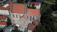 Старая тевтонская церковь в Барчево. Польша