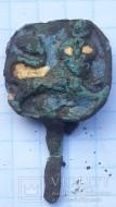 Ременная накладка «Перун убивающий лютого зверя» или «Самсон разрывающий пасть льву»