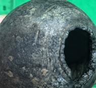 Средневековая булава XIV-XV век и точильный камень