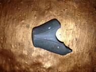 Фрагмент каменного топора с валиком, опоясывающим проушину