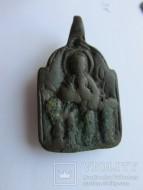 Нательная икона Богоматерь Одигитрия на троне - Крест, 12-13 век