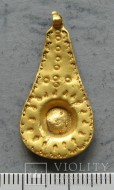 Золотая подвеска «Мандолина»