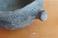 Горшочек Катакомбной культуры, орнаментирован