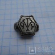 Щиток серебряного перстенька с гербом или тамгой