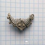 Серебряный древнерусский колт без ушка
