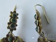 Редкие старинные серебряные серьги. Носились вместе с дукачём