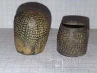 Античная металлопластика. Наперстки (?), 2шт.