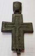 Энколпион 14-15в. (Распятие Христово с Предстоящими - Богородица Агиосоритисса