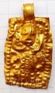 Золотая привеска ЧК с антропоморфным изображением