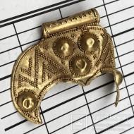 Золотая трехрогая лунница, период Киевской Руси