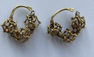 Пара древнерусских золотых колтов