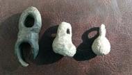 Волкобои К.Р.  3 шт. разные. Больший бронза, средний свинец, меньший ?? сплав.