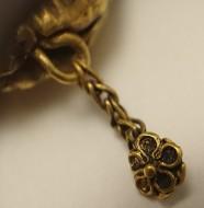 Античная золотая подвеска - Двуликий Янус