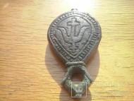Кистень с тамгой князя Всеслава Бречиславича и стилизованным змеевиком