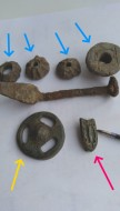 Различные копаные предметы