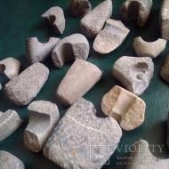 Сверленные каменные топоры с утратами