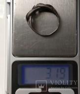 Витое серебряное древнерусское кольцо