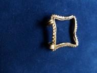 Золотая рамка-кулон. Черняховская культура
