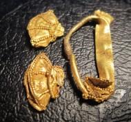 Золотые фрагменты хазарского колта