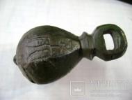 Кистень с княжеской тамгой Рюриковичей «двузуб», вес 197 грамм