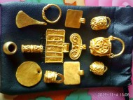 Коллекция золотых предметов Черняховской культуры