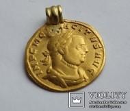Ауреус Тацит Tacitus (275-276) с ушком Черняховской культуры