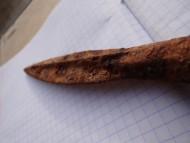 Наконечник копья с нервюрой на пере и граненной втулкой. Пшеворская культура