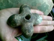 Трипольская крестообразная каменная булава IV - III тыс. до н. э.