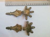 Бронзовые позолоченные пятипалые фибулы,  6 -самого начала 7 века.