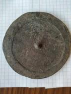 Древнее  бронзовое зеркало. Диаметр 9.5 см