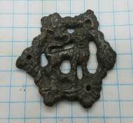 Нашивка «Лютый Зверь» от сумки-калиты 16-17 век