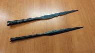 Ятвяжские наконечники копий, найденные археологами из районного музея в Сувалках
