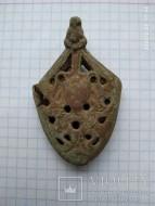 Наконечник ножен Гнездовского типа с личиной, втор. пол 10 века