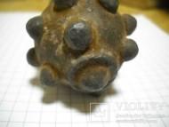 Свинцовый кистень в пупырышках, вес - 296г