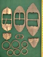 Комплект деталей от ремня или подвеса сабли 17-18 вв