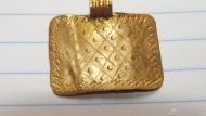 Золотая привеска  ЧК  посевное поле  2-4 век. Вес 3,43 грамма