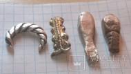 Серебряные изделия ЧК и КР вес 15.53 грамм