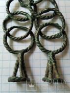 Раннескифский двойной амулет-подвес ароматница, витая бронза