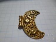 Лунница периода Киевской Руси Золото 3.14 зернь
