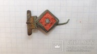 Древнериимская фибула с иглой, с эмалями