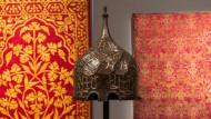 A RARE AND IMPORTANT SILVER-INLAID AQQOYUNLU TURBAN HELMET, TURKEY OR PERSIA, SECOND HALF 15TH CENTURY