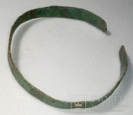 Браслет бронзовый + пуговичка с орнаментом + детали для реставрации