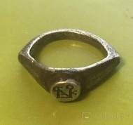 Византийский серебряный перстень-печать с монограммой